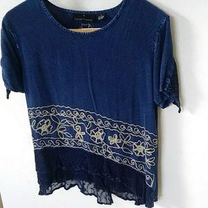 Small Sacred Threads embroidered blouse